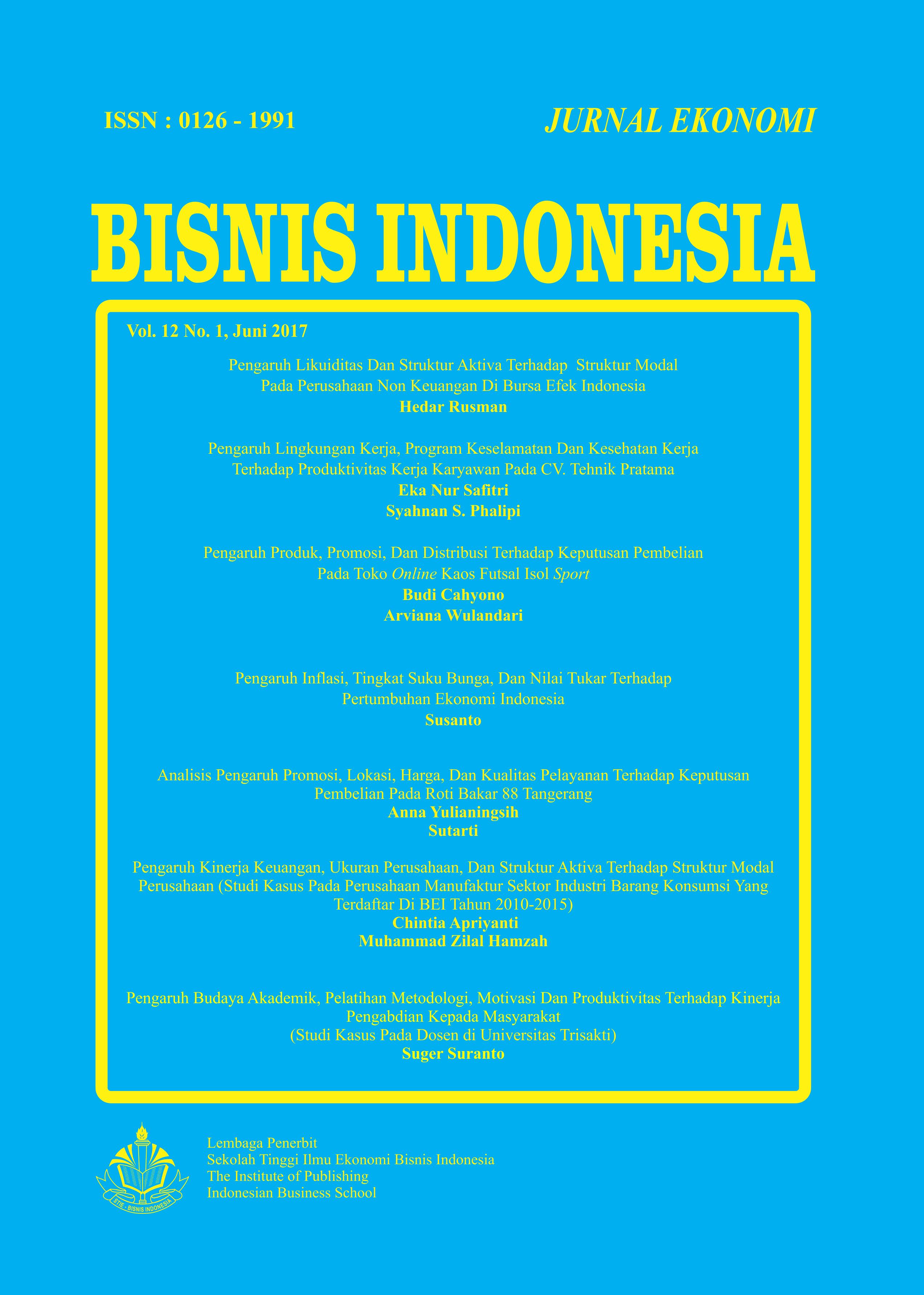 Analisis Pengaruh Promosi Lokasi Harga Dan Kualitas Pelayanan Terhadap Keputusan Pembelian Pada Roti Bakar 88 Tangerang Jurnal Ekonomi Bisnis Indonesia